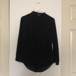 Wet seal black button up blouse